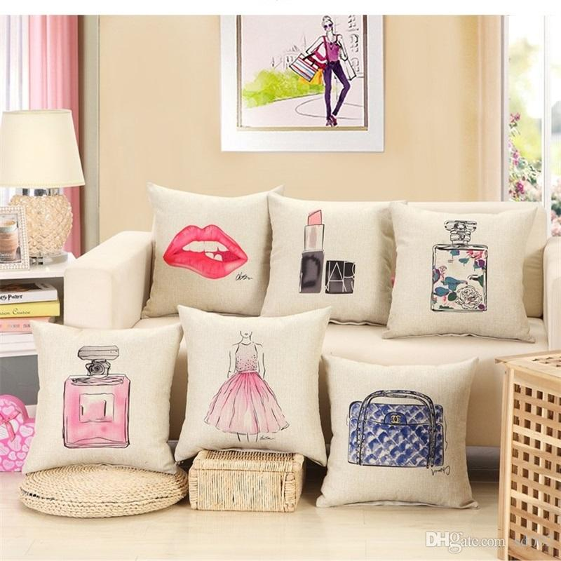 Sporting 2018 Football Russia Decorative Cotton Linen Cushion Cover Football Printed Sofa Throw Pillow Car Chair Elegant And Sturdy Package Cushion Cover