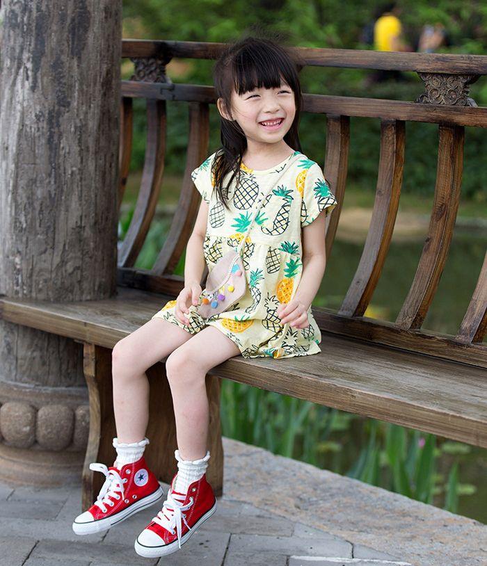 Girls Dress 2016 Brand Summer Girl clothes Baby Denim dresses for kids flowers Dress Children Cowboy Floral Print