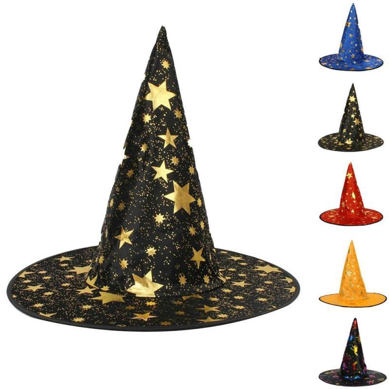 Halloween Witch Hat Party Decoration Black Witch Caps For Women/Man Adult  Gift Hats Festive Events Head Dress 3
