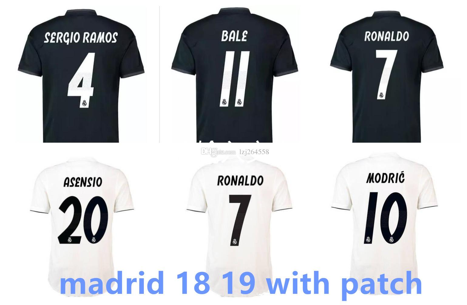 huge selection of afcf8 bb428 New Camisa Real Madrid 2019 Soccer Jerseys, Chandal Cristiano Ronaldo  Jersey Football Shirt 18 19 CR7 ASENSIO Modric Kroos Ramos Bale FUTBAL