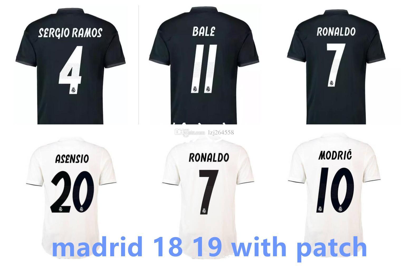 743a500089 Compre Nova Camisa Real Madrid 2019 Camisas De Futebol