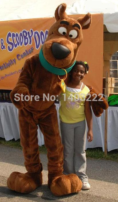 Brown Snoopyy Dog Scooby Doo Mascot Costume Mascot With Black Large