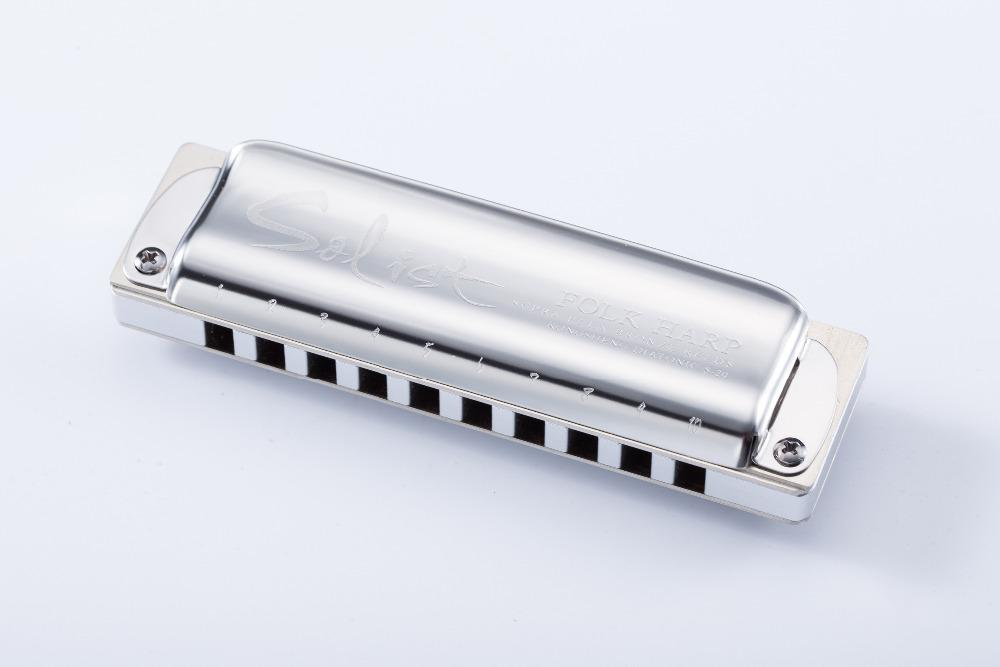 KONGSHENG Solista arpa popolare di alta qualità a 10 fori chiave armonica diatonica di C / Db / D / Eb / E / F / F # / G / Ab / A / Bb / B / Basso F / Alto G