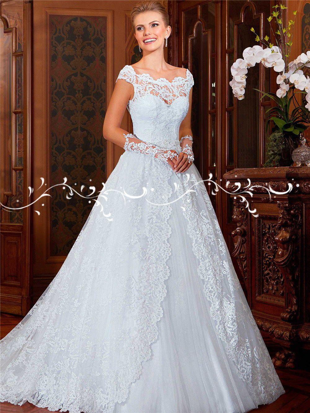 Sereia Mariage Vestido De Noiva Princesa Ball Gown Lace Wedding ...