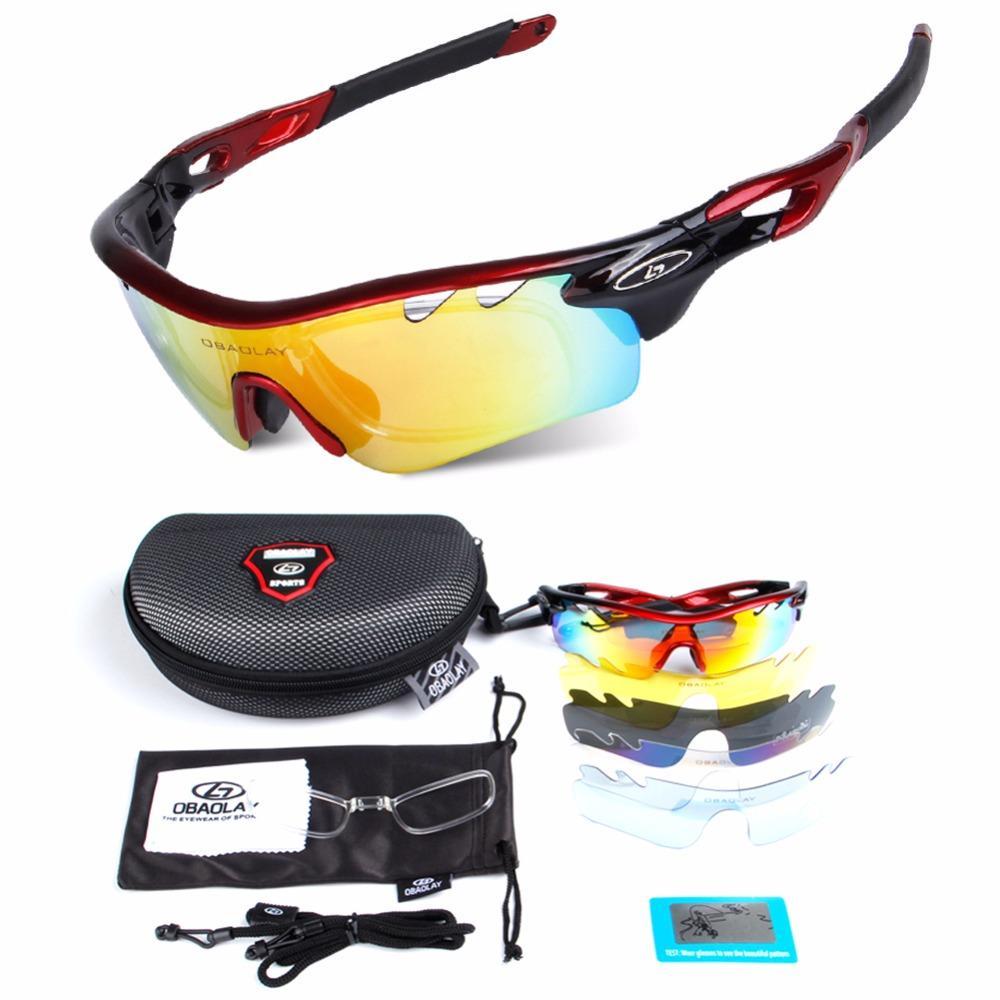 e6a46583acf 2018 5 Lens Polarized Cycling Sunglasses Sport Cycling Glasses Mens  Mountain Bike Goggles Uv400 Eyewear Bicycle Glasses From Baibuju