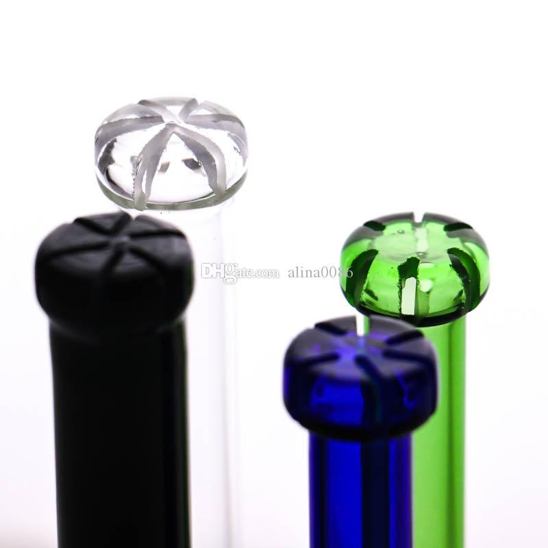 제조사 G.O.G downstem 14mm 여성 -18mm 남성 4 개의 다채로운 유리 Lo Pro 확산 된 Downstem, 6 회 커팅
