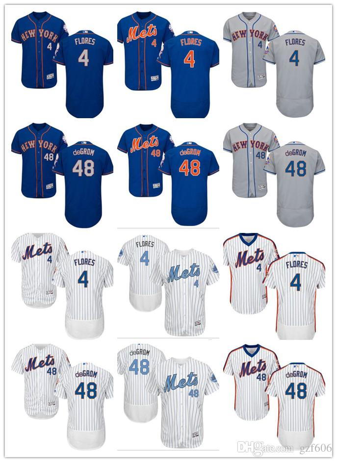 8a90b10f7 Custom Men s Women Youth Majestic New York Mets Jersey  4 Wilmer ...