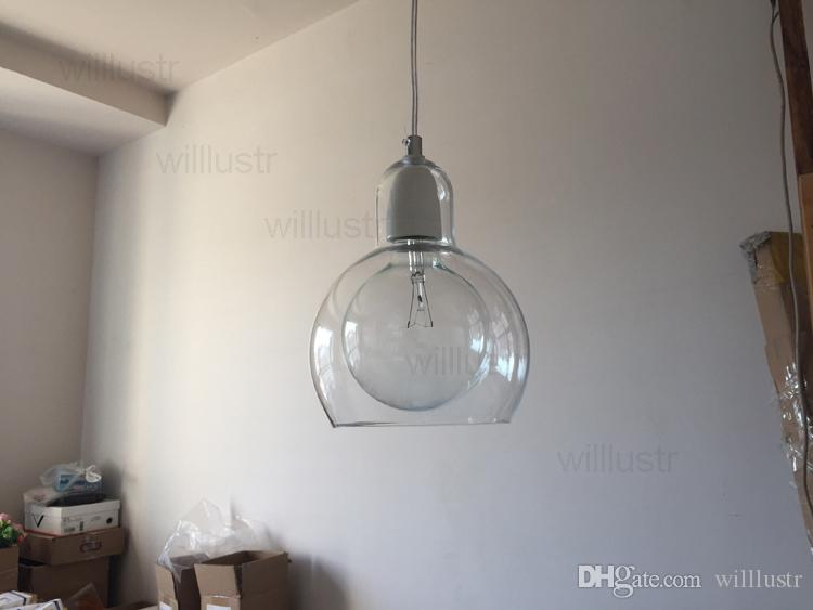 Mega Bulb SR2 pendant light suspension lamp modern And tradition clear smoke amber glass lighting hotel restaurant dinning room living room