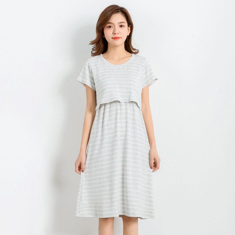fad24f38e7f62 2019 Modal Striped Nursing Dresses Maternity Clothes For Pregnant Women  Feeding Pregnancy Dress Breastfeeding Clothing Gravidas Dress From  Paradise02, ...