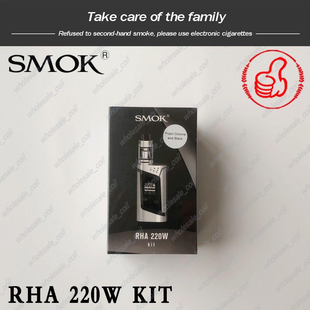 Smok RHA220 alien220 Kit с 3 мл TFV8 Детская емкость VW / TC / Memory LED Экран испарителя Kit Free DHL