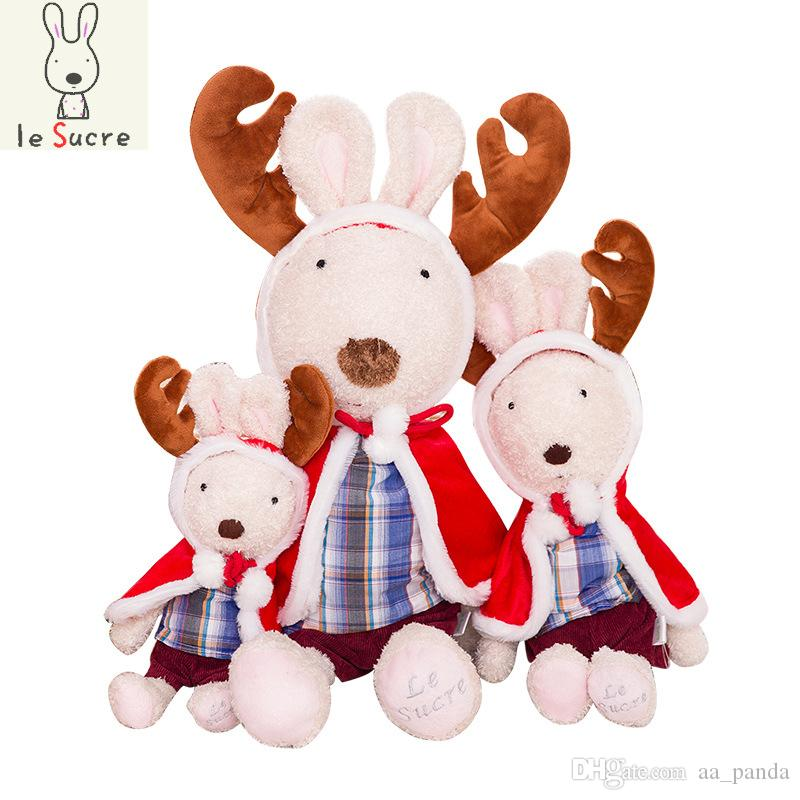 plush toy le sucre rabbit christmas red cloak style lover bunny valentines birthday gift kids doll baby plush toy stuffed le sucre inexpensive christmas