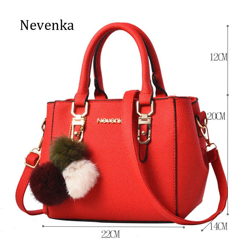 f330bb1016fc Nevenka Women Bag Pu Leather Tote Brand Name Bag Ladies Handbag Lady  Evening Bags Solid Female Messenger Bags Travel Fashion Sac Womens Handbags  Toting From ...