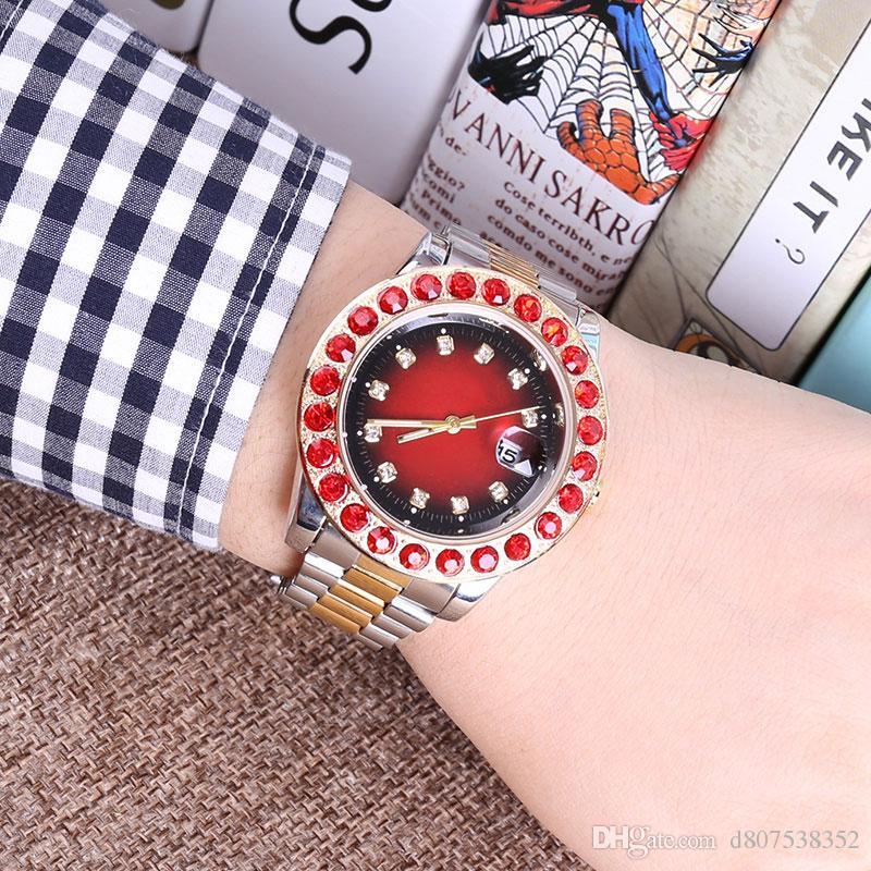 2018 새로운 다이아몬드 시대의 디자이너 시계 남성과 여성의 새로운 고급 패션 브랜드 제품 남성용 새로운 강철 시계 석영 시계
