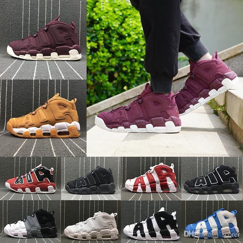 wholesale dealer 614f9 93664 Compre Más Pippen Ympic Wheat Triple White Bordeaux Zapatillas De  Baloncesto Para Hombre Para 3M Uptempo Scottie Pippen BasketBall Shoes A   121.83 Del ...