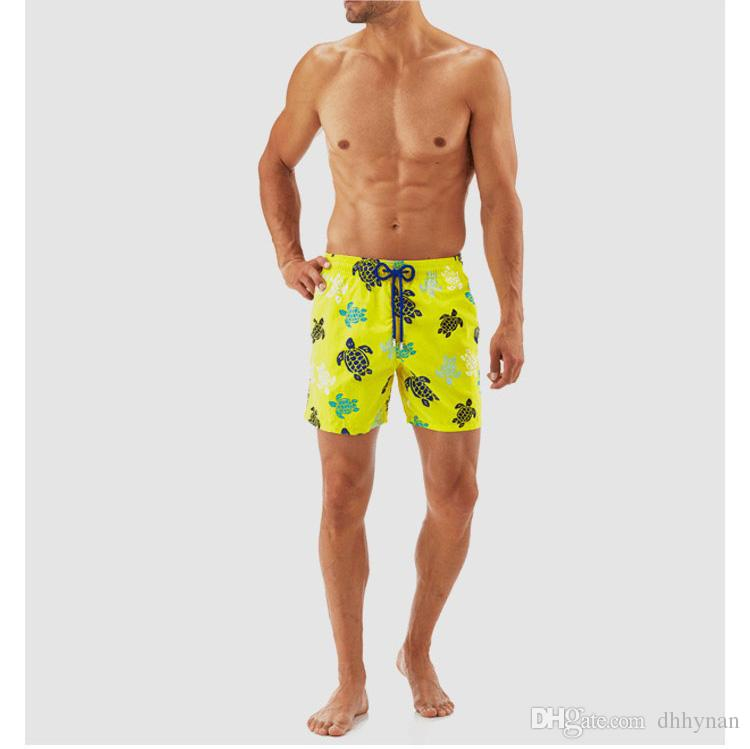 2cfa0731d729f 2019 new playful floral swimming trunks turtle print double-layer quick-drying  men's beach pants surf pants shorts 16