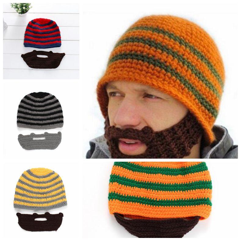 c874bc152ce 2019 Skull Caps Bearded Knitted Hats Beard Knitted Hat Warmer Ski Bike  Skull Hat Unisex Beard Outdoor Cap Party Hats CCA10753 From B2b life