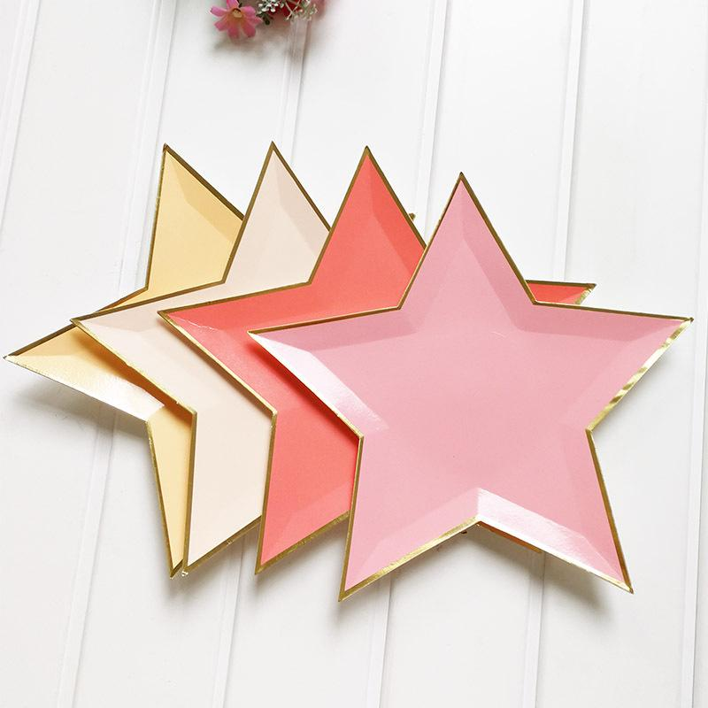 Discount Mixed Color Gold Foil Star Paper Plates Party Decoration Disposable Tableware Paper Plate For Dinner Cakes Party Supplies From China | Dhgate.Com & Discount Mixed Color Gold Foil Star Paper Plates Party Decoration ...