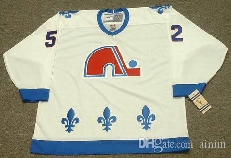 f5c12c9f5 Personalized Custom Quebec Nordiques 52 ADAM FOOTE 1992 32 DALE HUNTER 1985  CCM Vintage Hockey Jersey UK 2019 From Ainim