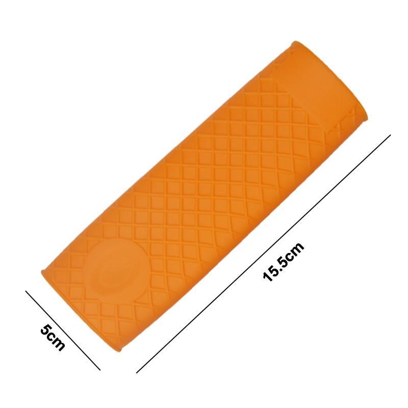 Silicone manico caldo resistente al calore porta pentole in silicone resistente Utensili da cucina in silicone antiscivolo manico in gomma con coperchio isolante
