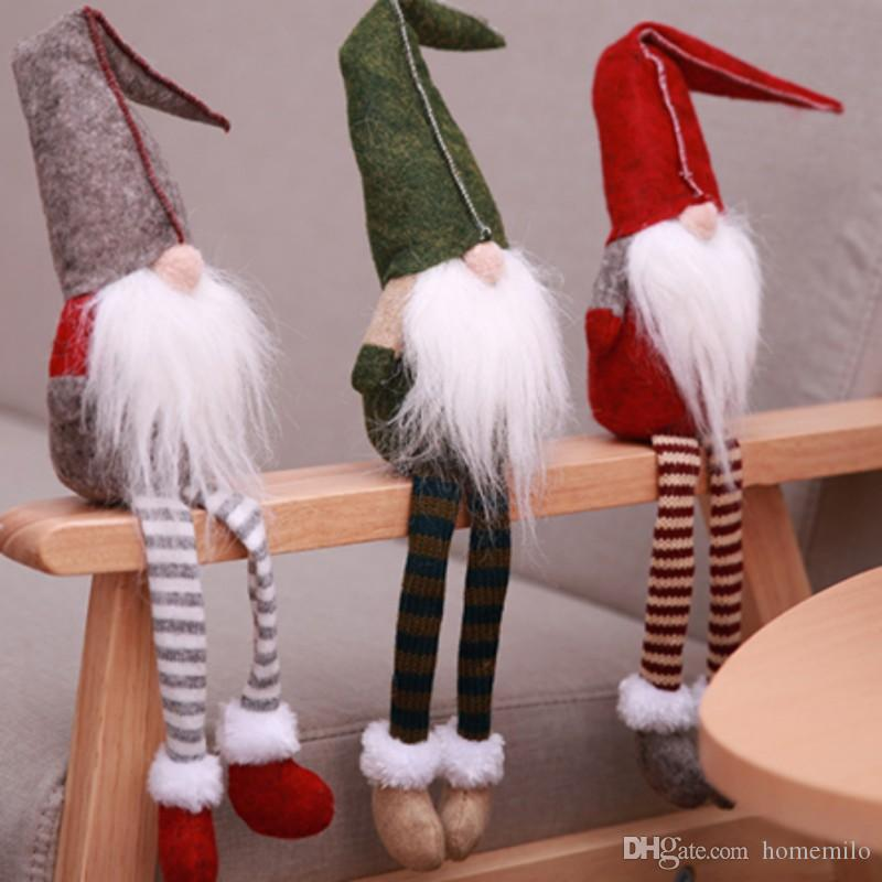 Christmas Cute Sitting Long legged Elf Festival New