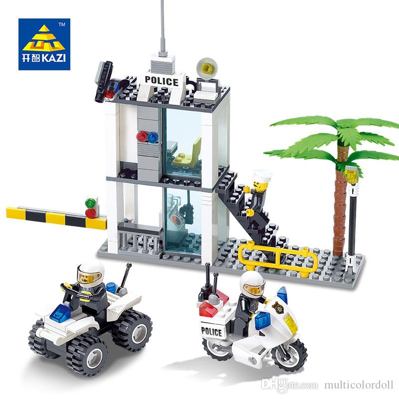 f66d579da90 2019 KAZI Police Command Center Motorcycle Building Blocks Sets Bricks  Model Brinquedos Educational Toys For Children 6+ 6728 From Multicolordoll