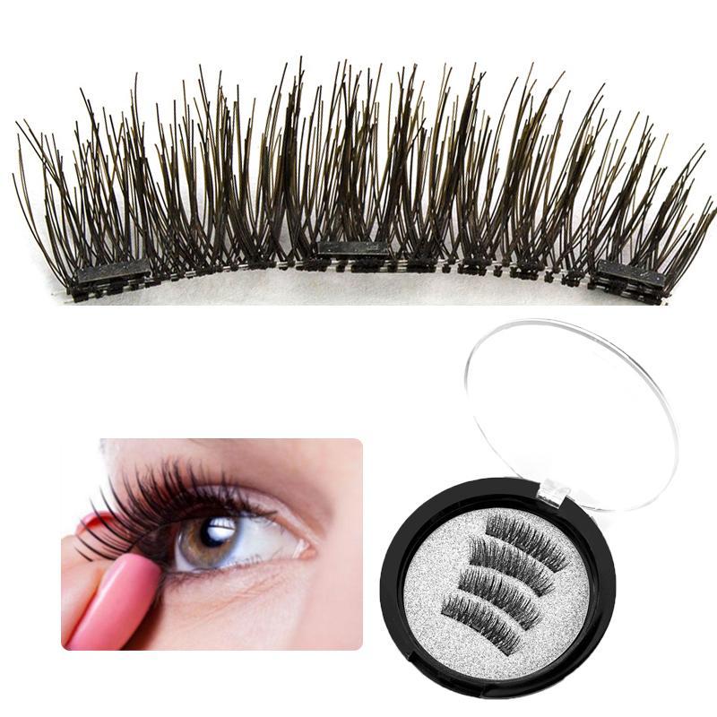 b79796caf19 Hot 3D 3 Magnetic False Eyelashes Magnet Eyelashes Extension Eye Lashes  Makeup Kit Gift Hand Made Full Strip Fake Lashes Make Up Individual Eyelash  ...