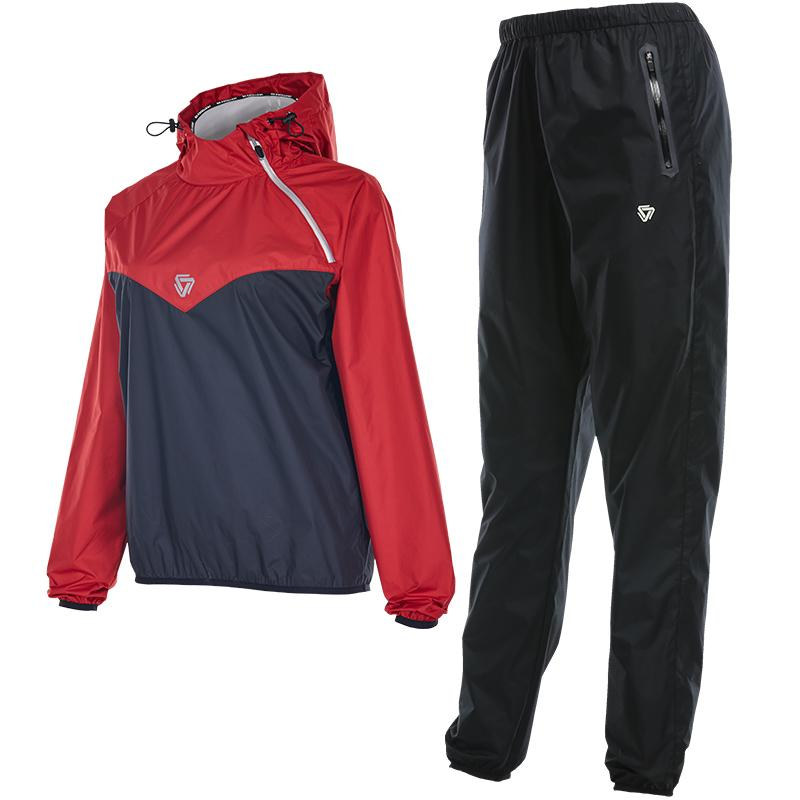 buy online a85cb 2376c Hot Shaper Running Set Frauen Sauna Sweat Long Sleeves Sport Anzug Body Gym  Thermo Running Shirt Hosen Sport Training Sportswear