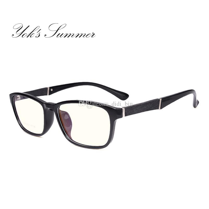 455a28f8f1 Yok s Summer Anti Blue Rays Leopard Glasses Women Men Rectangle Yellow Lens Computer  Eyeglass TR90 Optical Frame Eyewear HN128 Men s Half Frame Clear ...