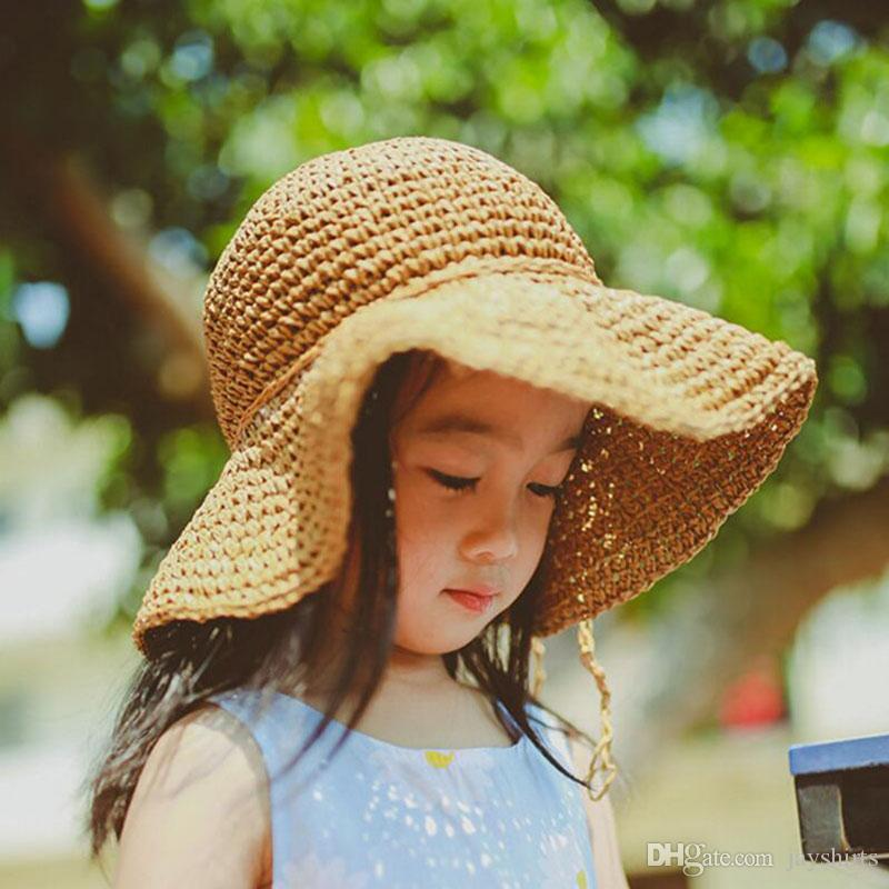 Wide Brim Hat For Girl Fashion Summer Straw Hats For Adult Kids ... dcfd12cee87