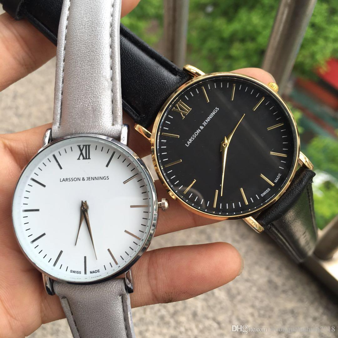 2018 marca de moda simple movimiento de cuarzo japonés correa de reloj de nylon hombres y mujeres analógico reloj impermeable