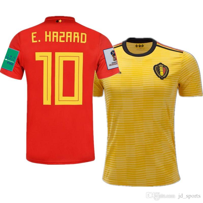 6381ee31f 2019 2018 World Cup Belgium Home Away Futbol Camisa Soccer Jerseys Football  Camisetas Shirt Kit Maillot From Jd sports