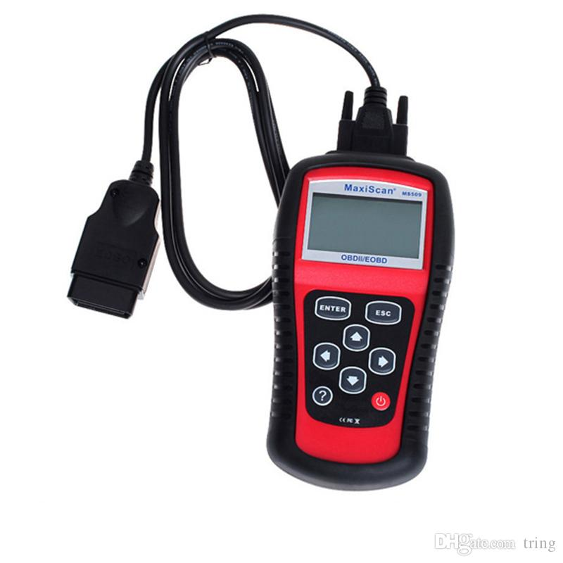 MS509 MaxiScan code OBD 2 scanner latest version high quality ms509 Code Reader Autel MS 509 Car Diagnostic Tool DHL