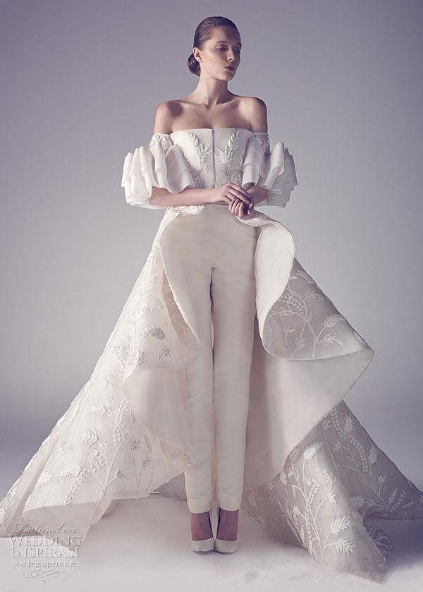 Off Shoulder Ivory Ashi Studio Jumpsuits Prom Dresses Charming