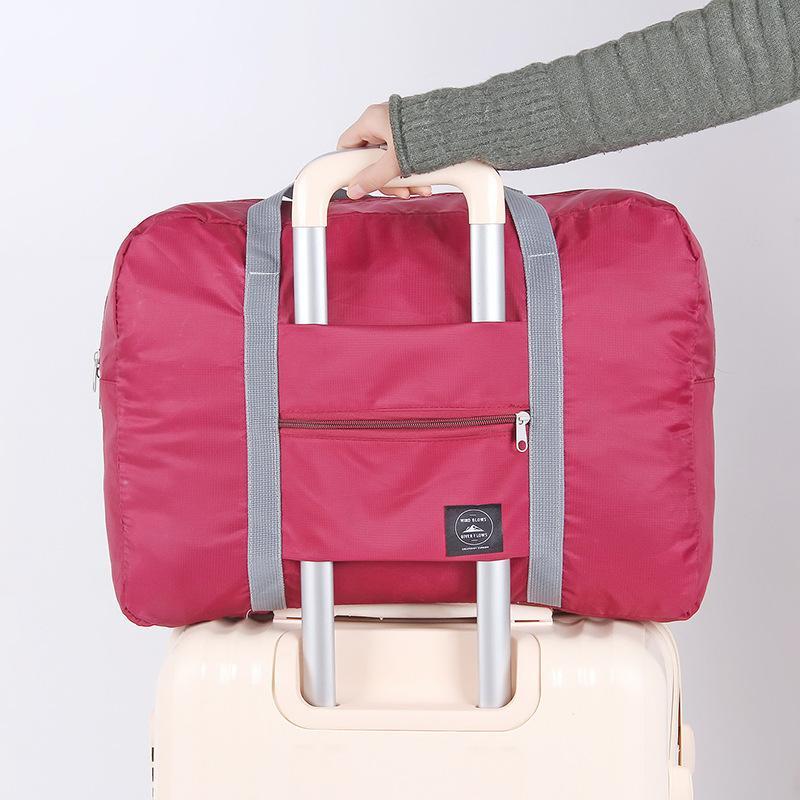 88e13cf5c5 2018 Nylon Travel Bags Women Lightweight Large Capacity Duffle Bag  Organizer Packing Cubes Folding Travel Luggage Bag For Men Travel Bags For  Men Mens ...