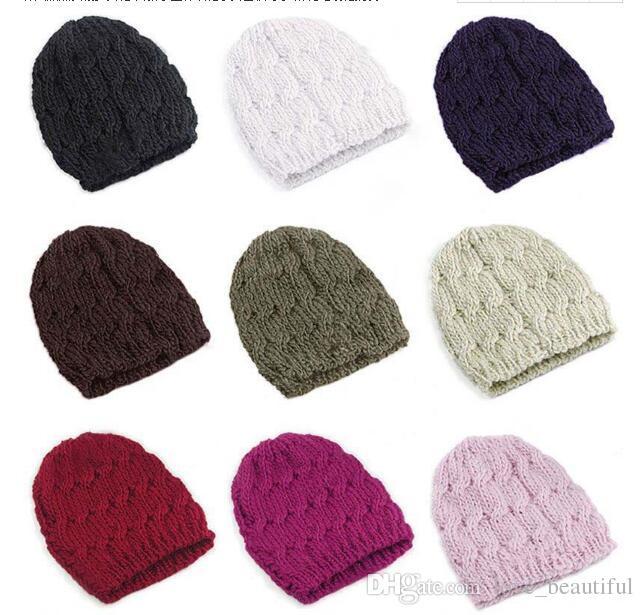 Compre Sombreros De La Gorrita Tejida De Las Mujeres De Invierno ...