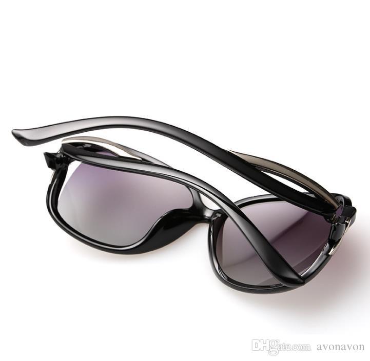 Donna lady Retro occhiali da sole polarizzati grande telaio classico moda BOW deco 2229 occhiali da sole guida specchio Occhiali googles eyewear a366