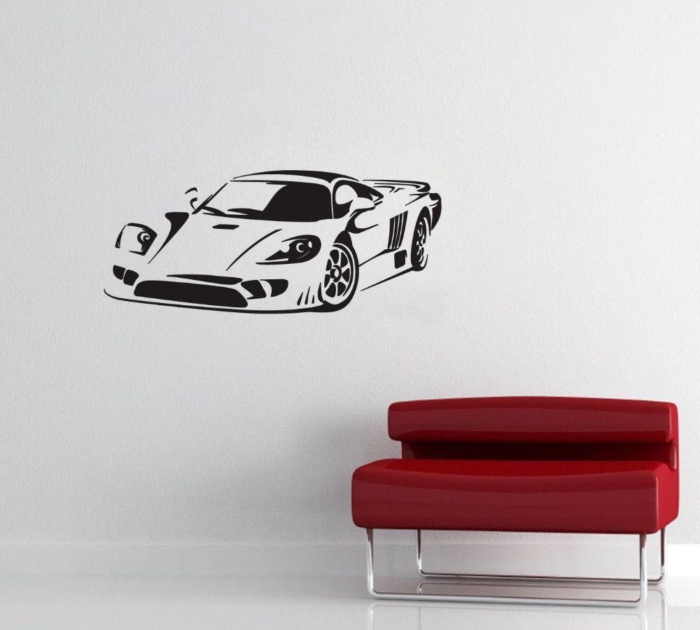 Umweltfreundliche Vinyl Wandaufkleber Auto Muster Rennwagen Neue Abnehmbare Kunst Aufkleber Wandbild Tapete Wohnkultur DIY Wandaufkleber M-124