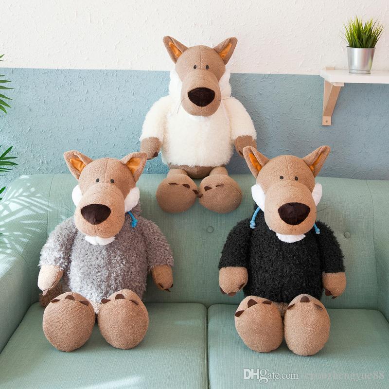 Acquista nuovo marchio di simulazione anime bambola lupo simpatico