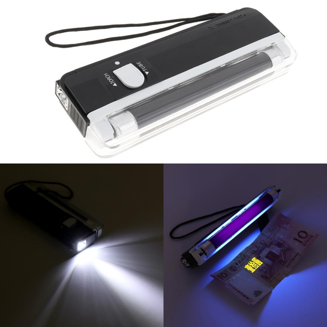 0a8e4db62e 2019 2 In 1 G5 4W Mini Portable UV Ultra Violet Lamp Tube Set LED Torch  Light BANK NOTES Check From Caraa
