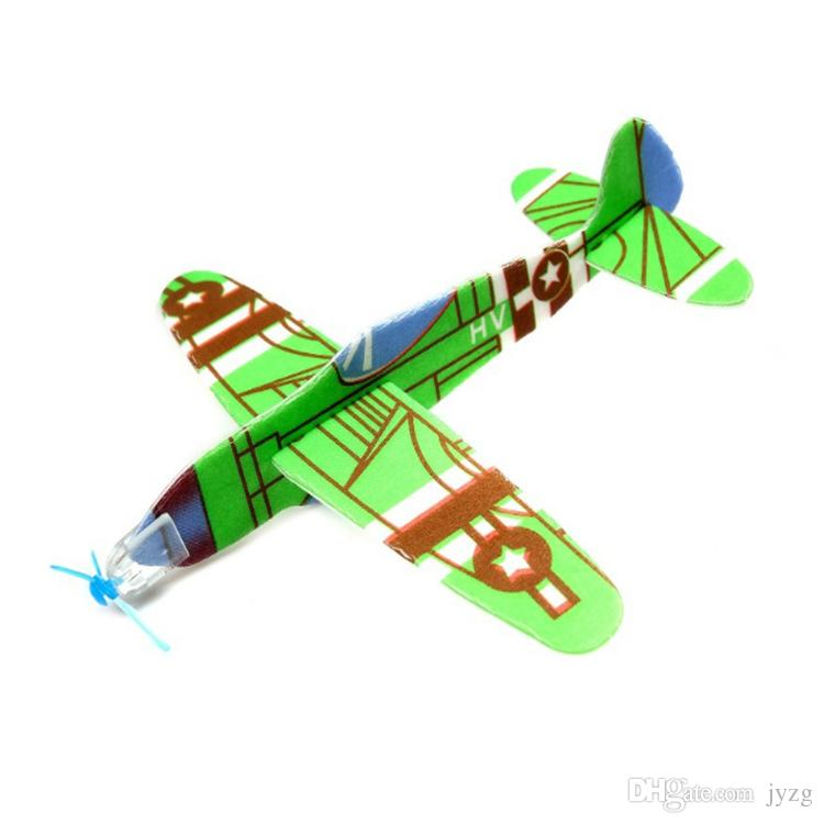도매 퍼즐 매직 플라잉 글라이더 항공기 비행기 거품 다시 비행기 아이 어린이 DIY 교육 장난감