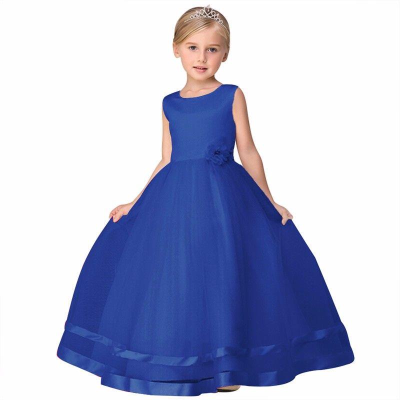 8 cor do bebê flor menina vestido de festa infantil das crianças roupas adolescentes meninas vestidos de casamento tule prom festa formal dress
