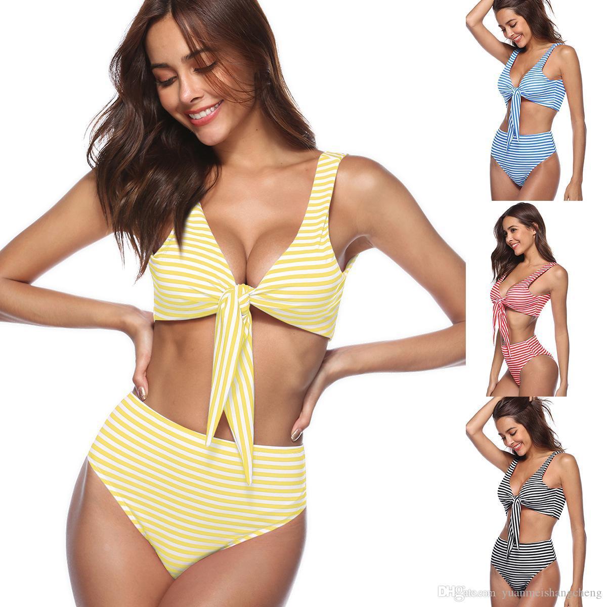 e679e8bce Compre 2018 Halter Sexy Bikini Push Up Traje De Baño Halter Tank Traje De Baño  Traje De Baño De Split Army Green Bikini Womens Swim Wear A  28.8 Del ...