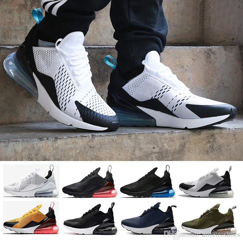 (With box)Black White 270 Running Shoes Teal for Men Women Flair 270 Training Sneakers Walking Sport Fashion Sneaker size Eur 36-45 clearance cost CJbaOGL