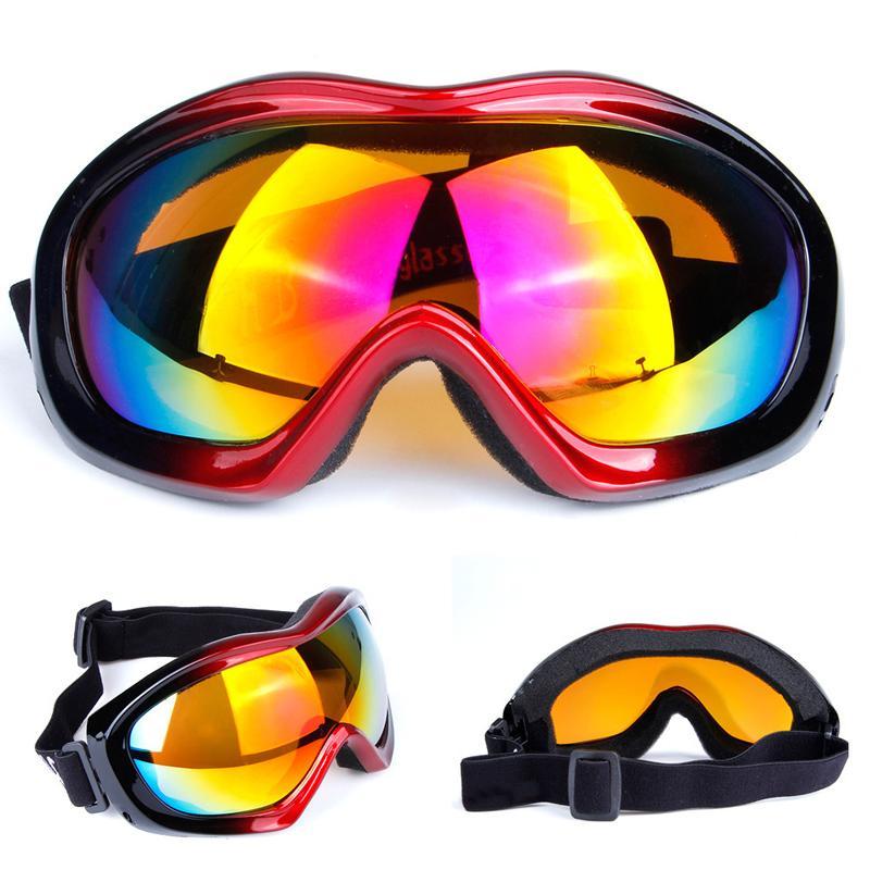 Compre Homens   Mulheres De Esportes Ao Ar Livre Snowboard À Prova De Vento  Óculos De Proteção Anti Nevoeiro Óculos De Neve Máscara De Esqui Snowboard  Neve ... 3c35fbd48e
