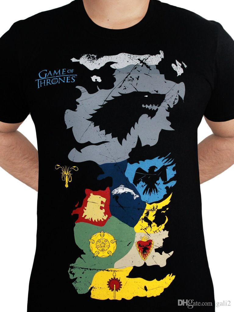 Got Karte Westeros.Game Of Thrones Haus Westeros Karte Wappen Sigils Stark Black Mens T Shirt