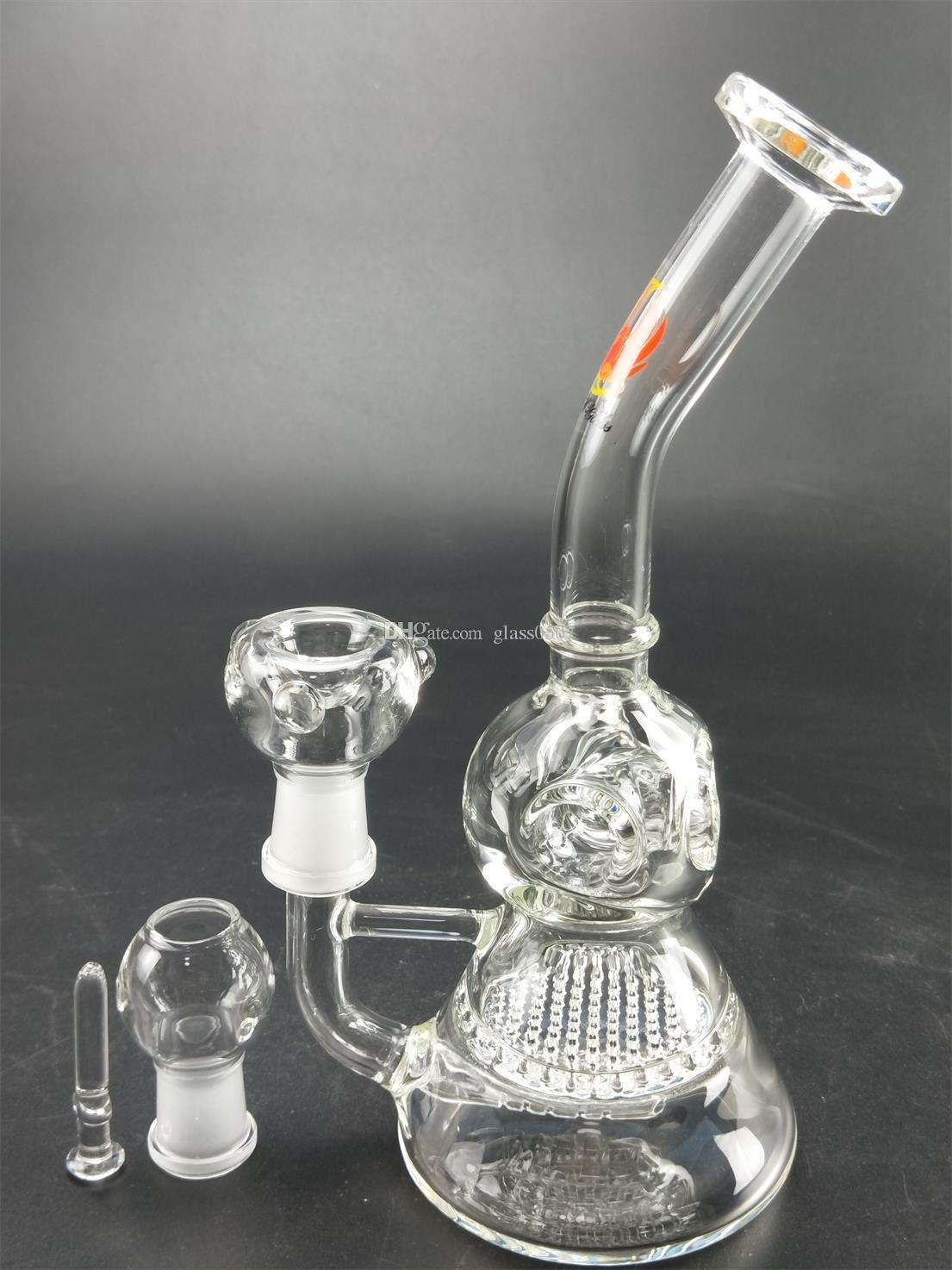 El nuevo modelo de proceso de tubería de agua de vidrio con el aspecto metálico del filtro de tubería de agua con alta calidad