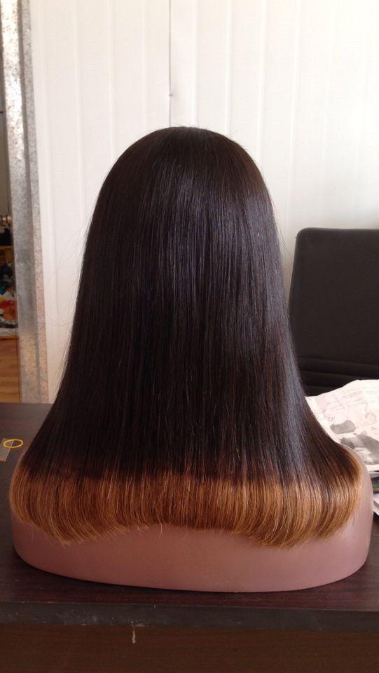 Parrucca capelli umani a due toni T1b 30 Ombre U Parte centrale sinistra sinistra Brasiliana Capelli vergini 8-24 pollici
