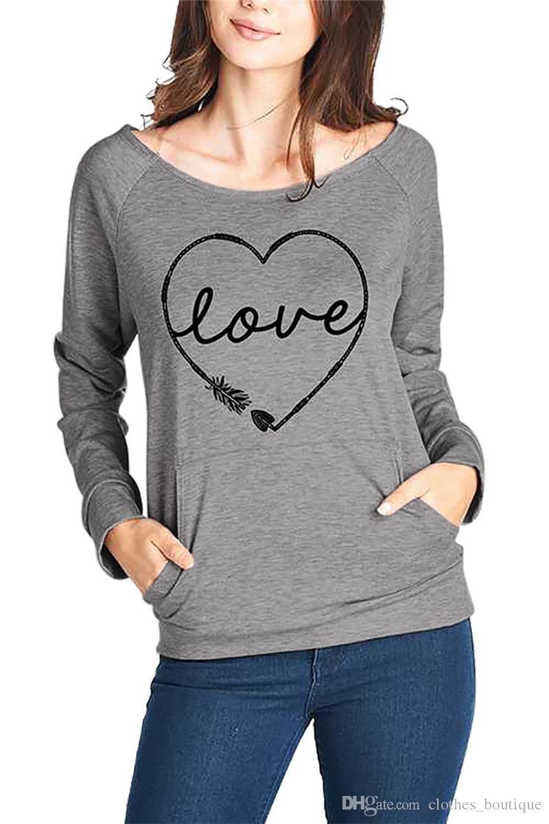 check out d7520 27d0c Casual T-Shirts für Frauen 2018 Basic Tops für Damen Herbst Rundhals  Langarm Casual Bluse Tops Baumwolle Tunika Top