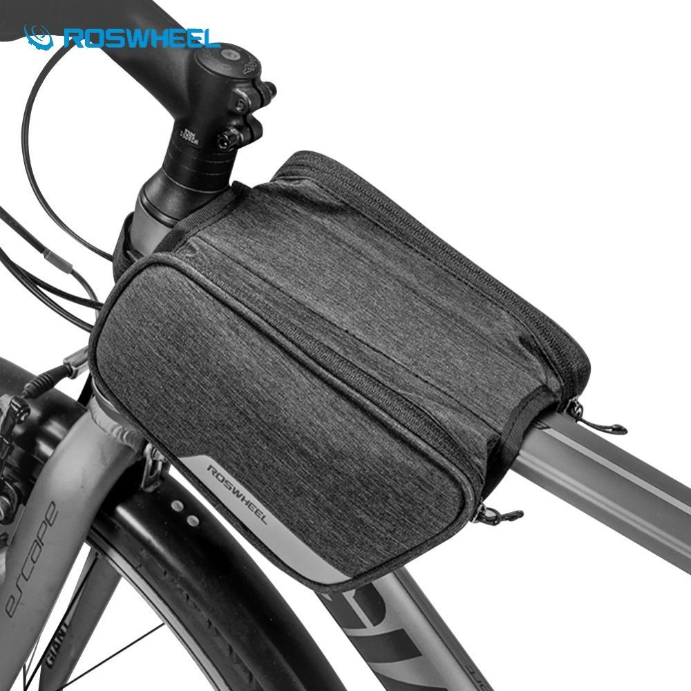 03820f02fb5 Compre ROSWHEEL Bolsa De Ciclismo A Prueba De Agua 1.5L Road MTB BikeTube  Bolsa De Bolsas De Almacenamiento De Marco Frontal De Bicicleta Accesorios  De ...