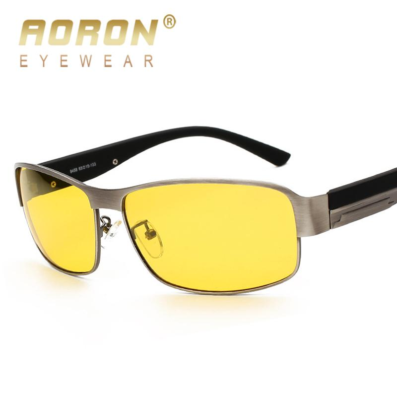 9fa33d2c33 AORON Brand Men Night Vision Polarized Sunglasses Women Luxury Anti ...